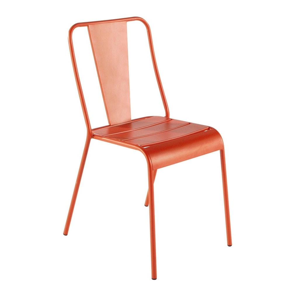 Famous Orange Chaises For Chaise De Jardin En Métal Orange (View 5 of 15)