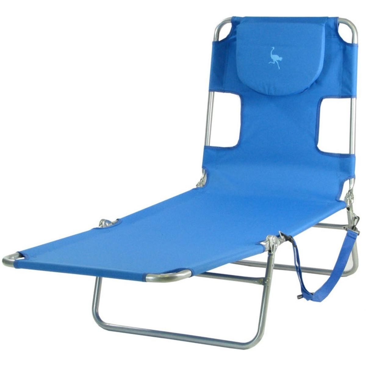 Famous Ostrich Mp102 Folding Beach Chaise Lounge Ocean Blue With Regard To Beach Chaise Lounge Chairs (View 9 of 15)