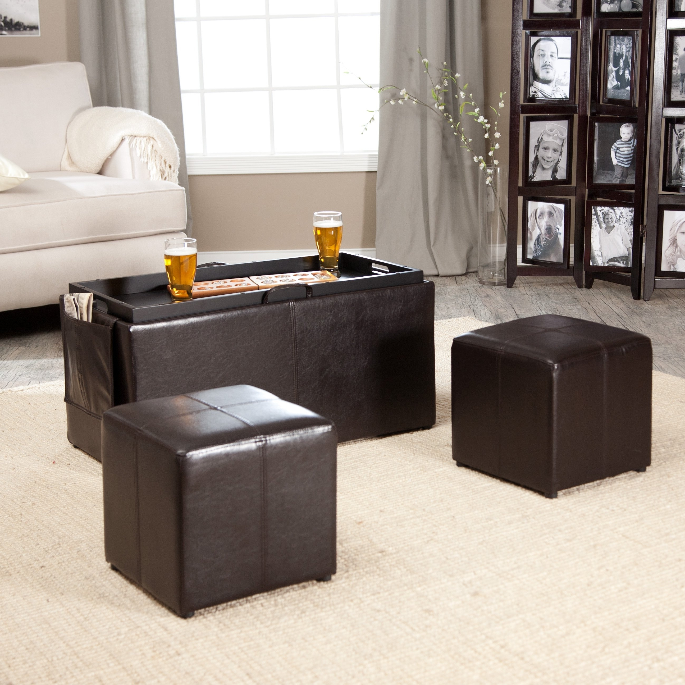 Famous Ottomans With Tray Pertaining To Hartley Coffee Table Storage Ottoman With Tray – Side Ottomans (View 6 of 15)