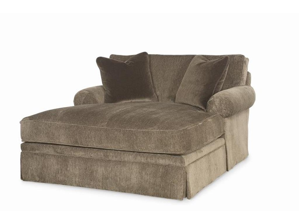 Famous Oversized Gray Chaise Lounge Chair Slipcover For Bedroom And With Regard To Upholstered Chaise Lounge Chairs (View 15 of 15)
