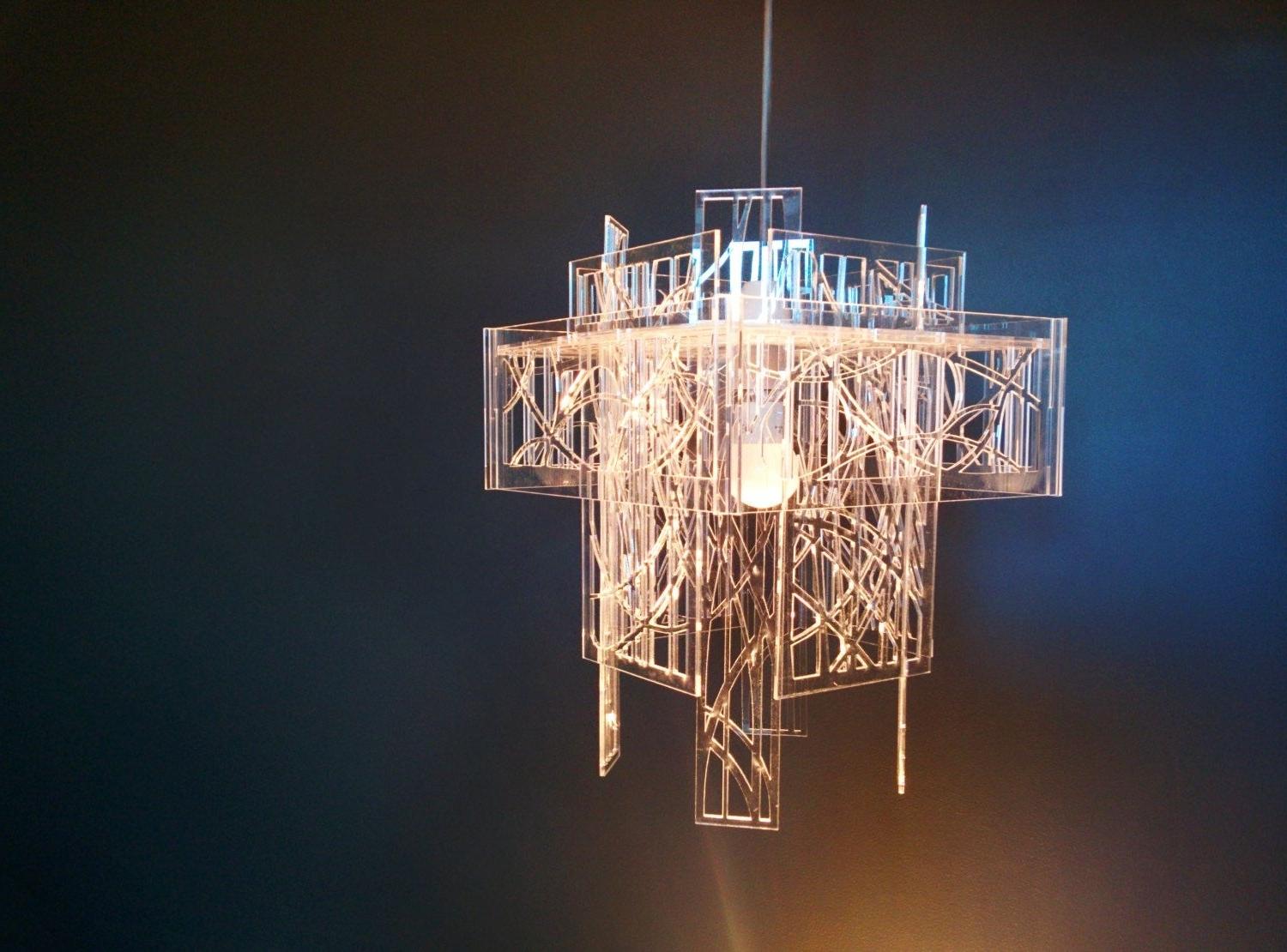 Famous Recycled Acrylic – Laser Cut – Light Shade / Chandelier (View 12 of 15)