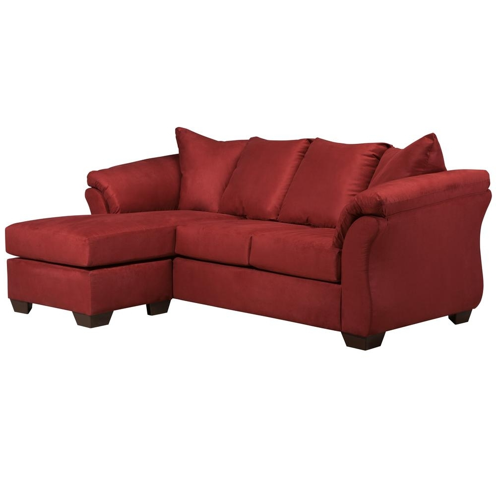 Famous Red Leather Chaises Intended For Flash Furniture Signature Designashley Darcy Salsa Microfiber (View 2 of 15)