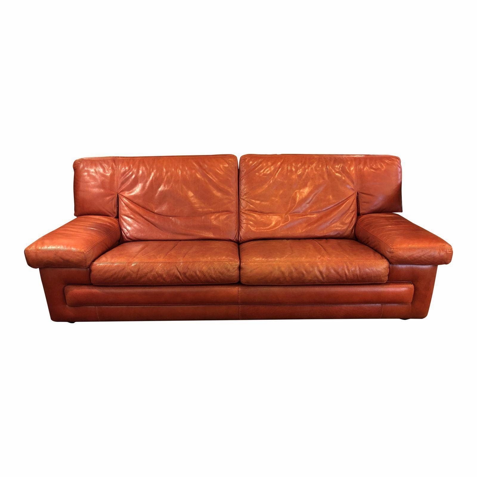 Famous Red Leather Sofas With Roche Bobois Vintage Red Leather Sofa. Original Price: $4, (View 10 of 15)