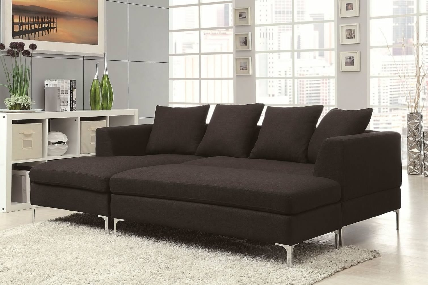 Famous Sectional Sofa Design: Sectional Sofa Chaise Lounge Sleeper Inside Microfiber Sectionals With Chaise (View 7 of 15)