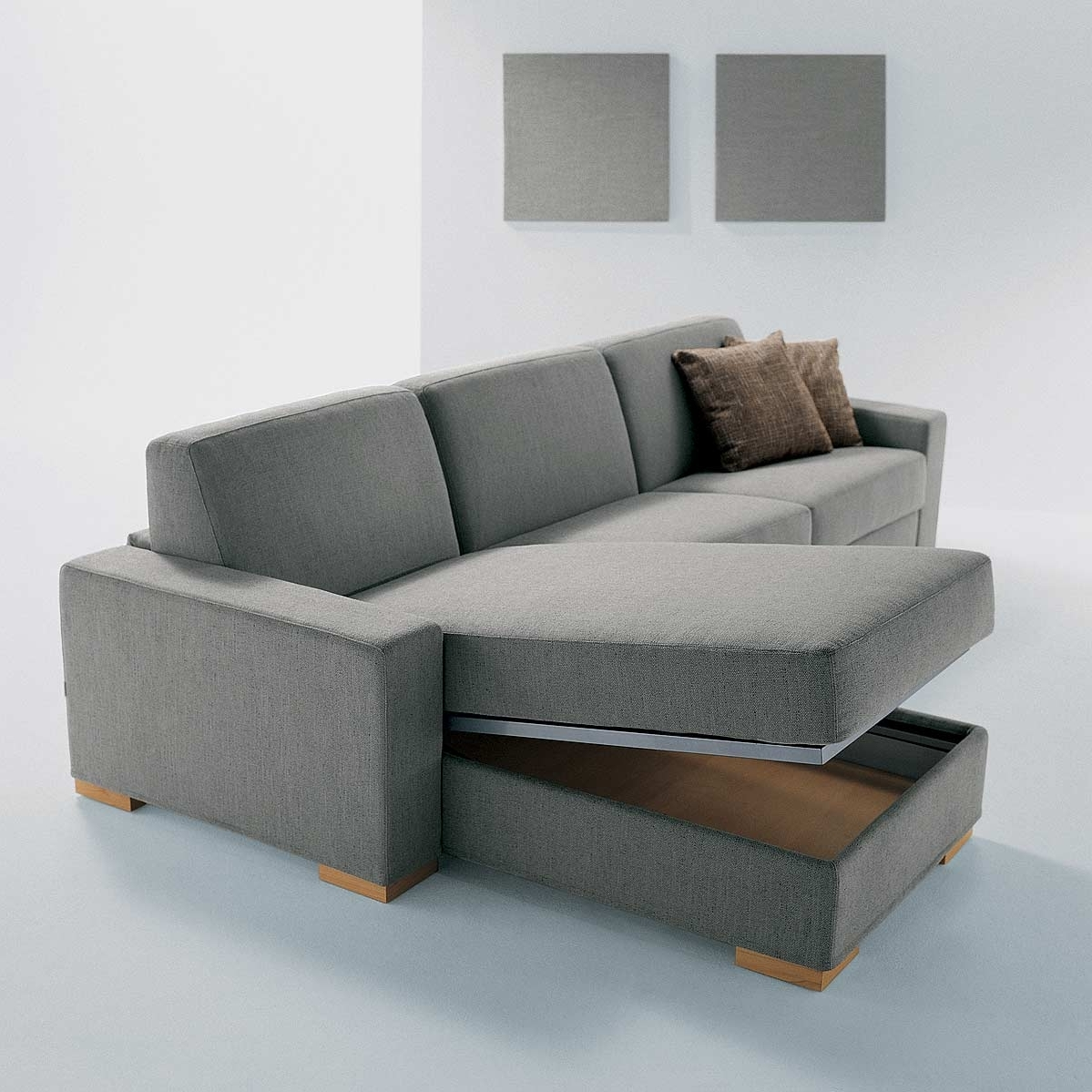Famous Sectional Sofas With Storage With Regard To Furniture : Sofa With Drawers Fabric Sectional Sofas With Chaise (View 4 of 15)