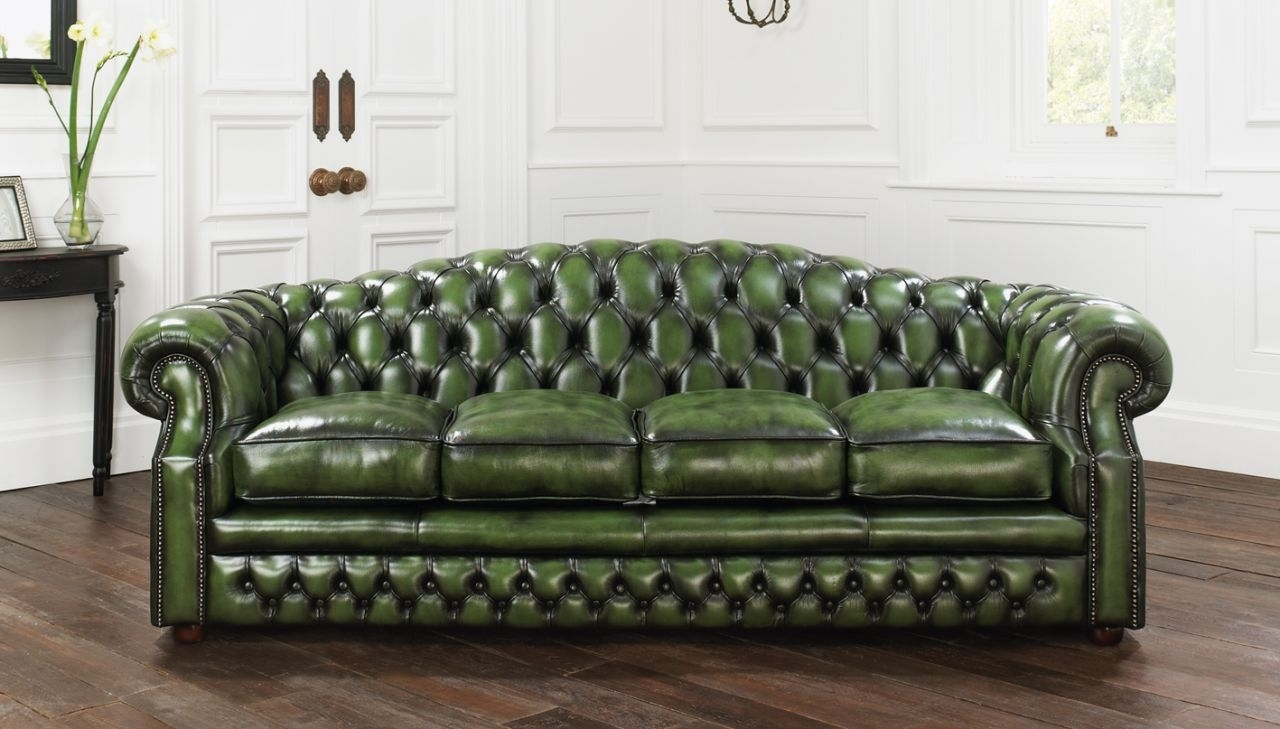 Famous Sofa : Top Tufted Leather Chesterfield Sofa Style Home Design In Tufted Leather Chesterfield Sofas (View 9 of 15)