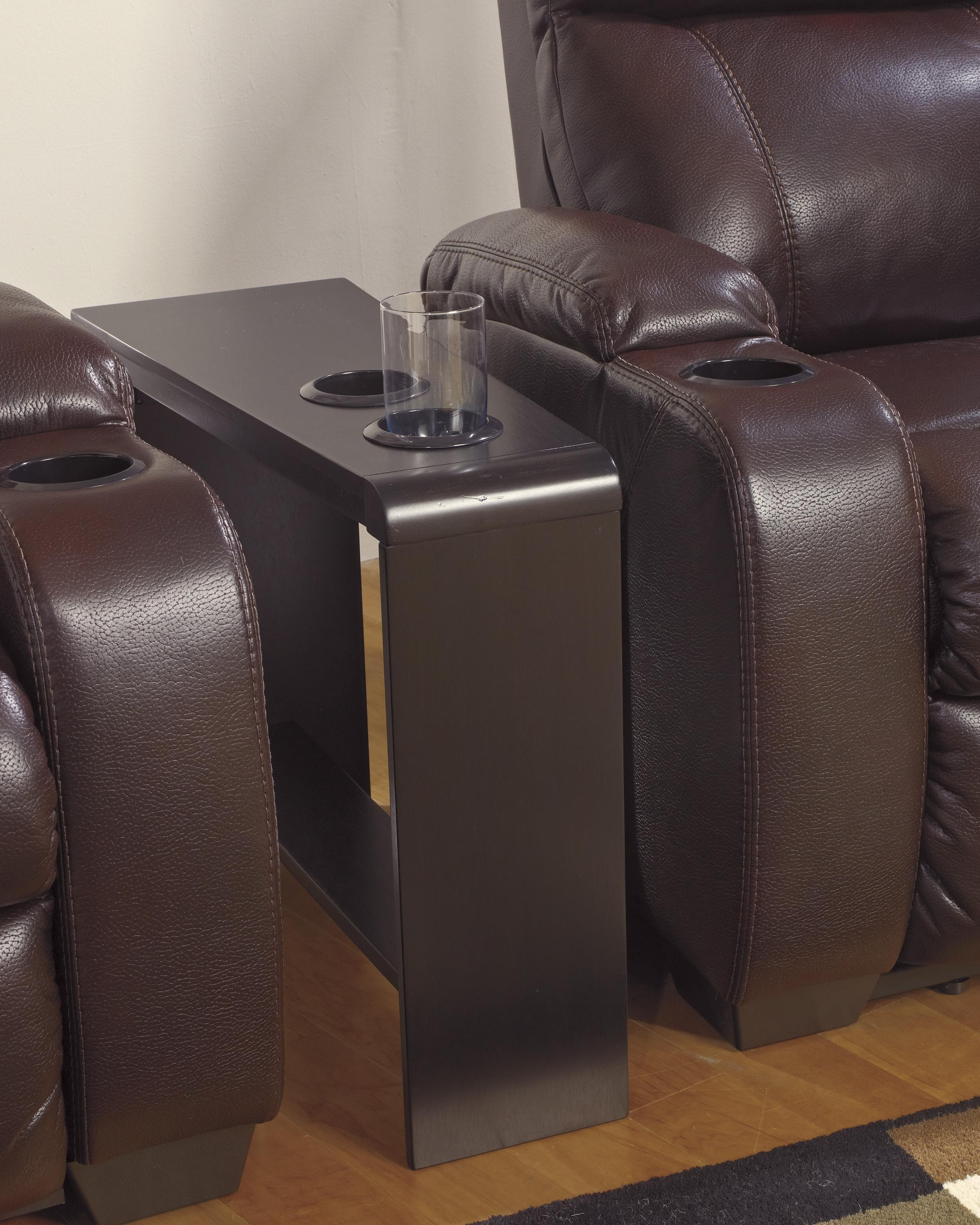 Famous Sofas With Drink Tables With Chair Side End Table With 2 Cup Holders, Powerstrip, & Usb (View 14 of 15)