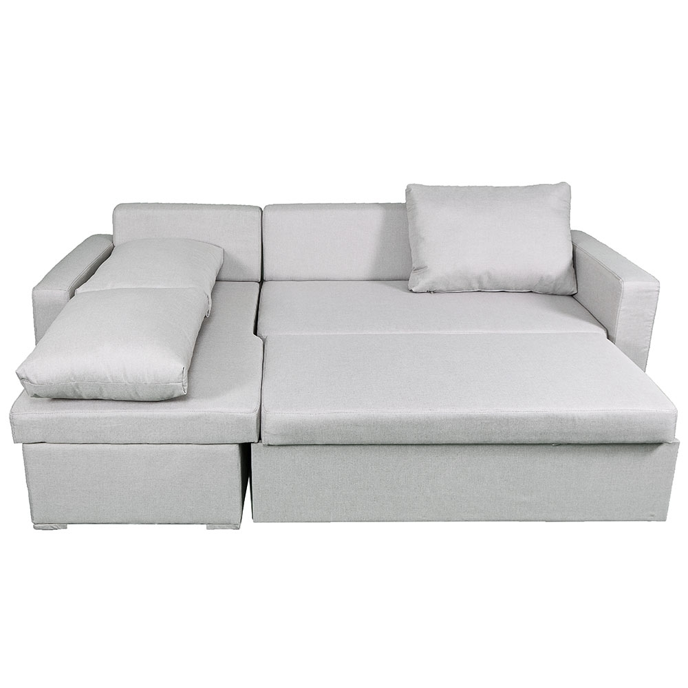 Famous Sydney Sectional Sleeper In Beige Throughout Sydney Sectional Sofas (View 11 of 15)
