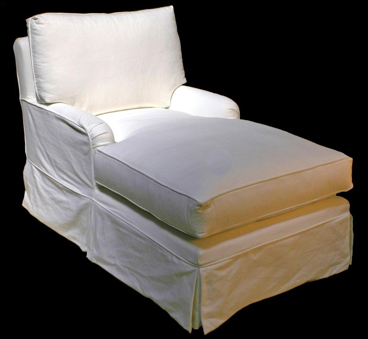 Famous Taylor Scott Collection – Slipcovered & Upholstered – Chaises Throughout Chaise Slipcovers (View 5 of 15)