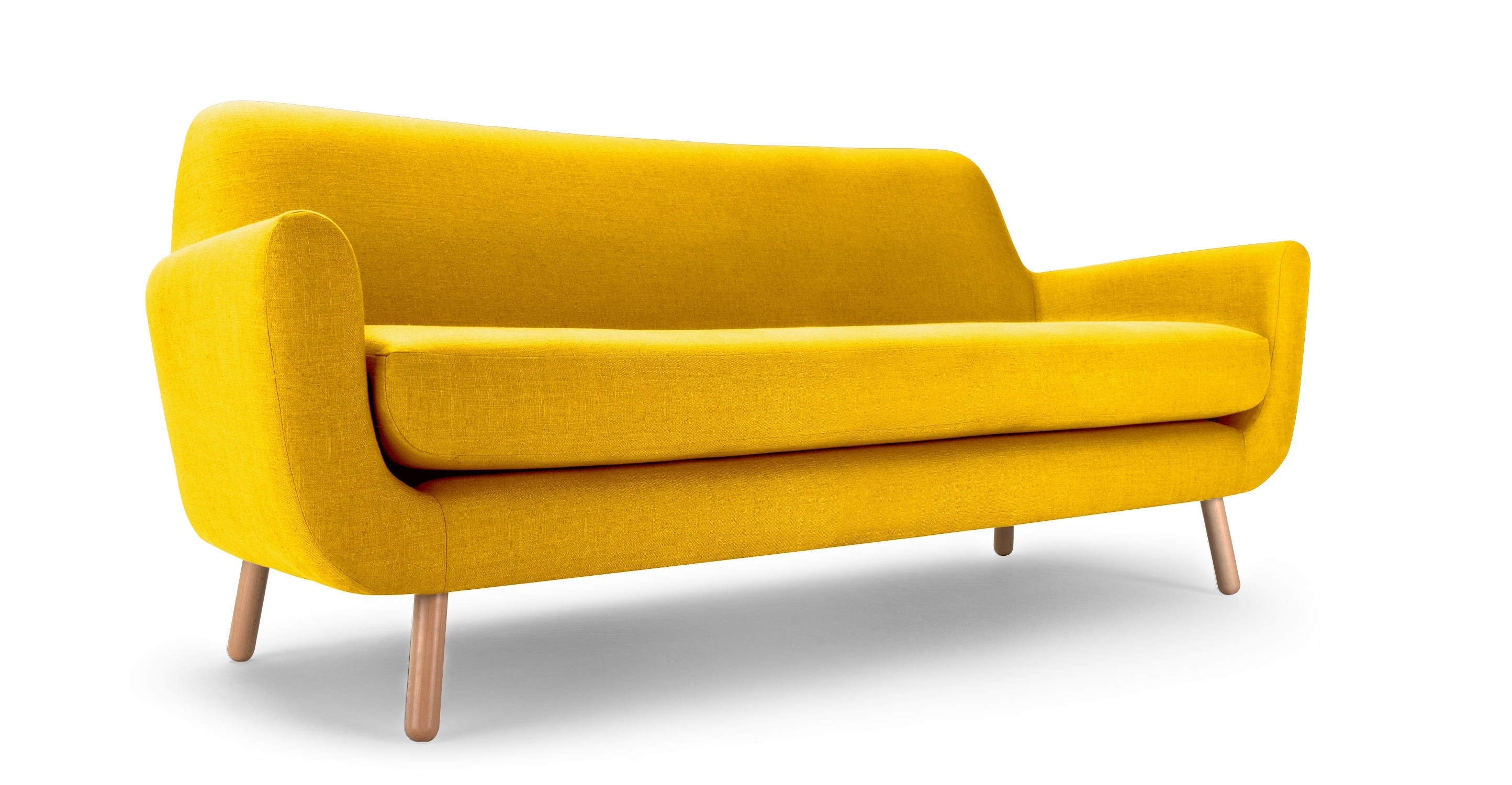 Famous The Jonah 3 Seater Sofa In Dandelion Yellow Linen Mix Fabric Will With Yellow Sofa Chairs (View 8 of 15)