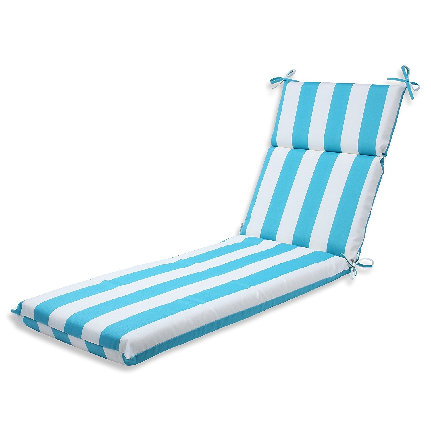 Famous Turquoise Chaise Lounges Inside Amazon: Pillow Perfect Outdoor Cabana Stripe Chaise Lounge (View 4 of 15)