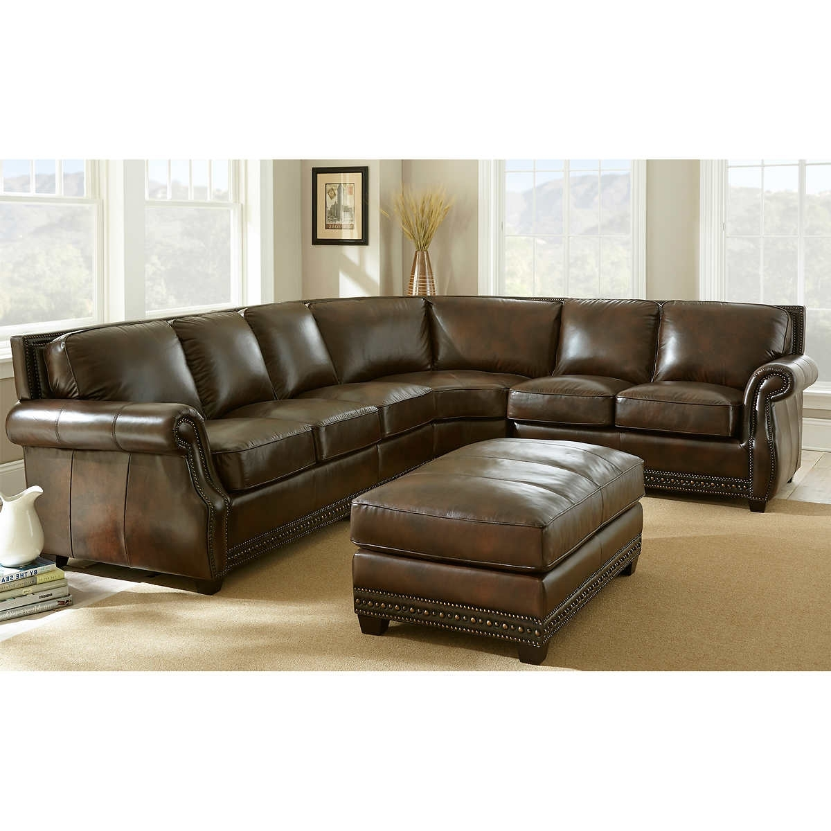 Fancy Leather Sectional Sofa With Recliner 30 On Sofas And Couches With Preferred Leather Sectional Sofas (View 4 of 15)
