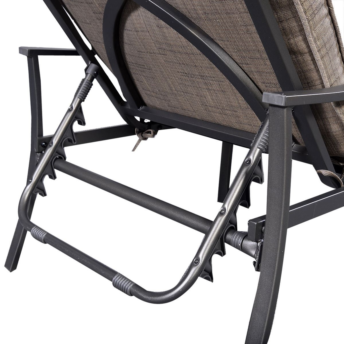 Fashionable Adjustable Pool Chaise Lounge Chair Recliners Within Furniture: Steel Frame Patio Adjustable Recliner Chair For Pool (View 5 of 15)