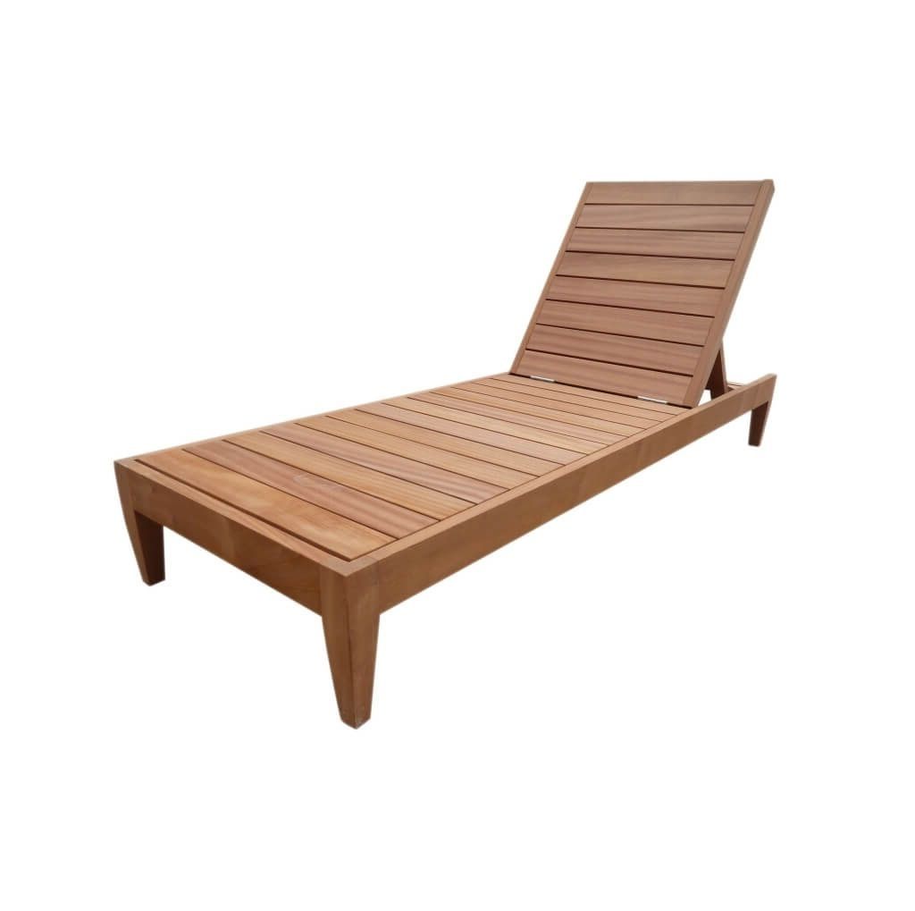 Fashionable Aluminum Chaise Lounge Chairs Intended For Furniture: Best Solid Wood Outdoor Armless Chaise Lounge Furniture (View 8 of 15)