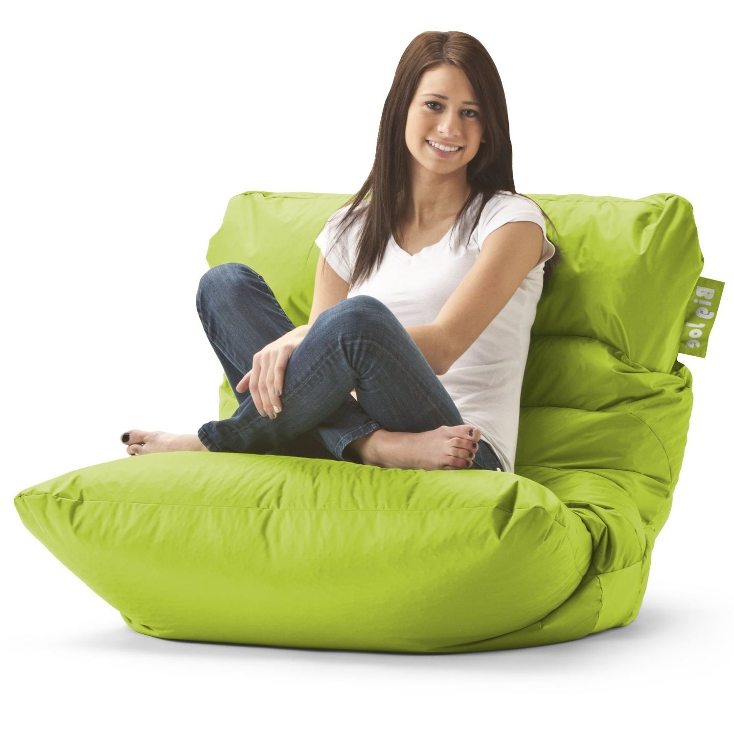 Fashionable Amazon – Big Joe Roma Bean Bag Chair, Spicy Lime – Beanbag In Bean Bag Sofas And Chairs (View 5 of 15)