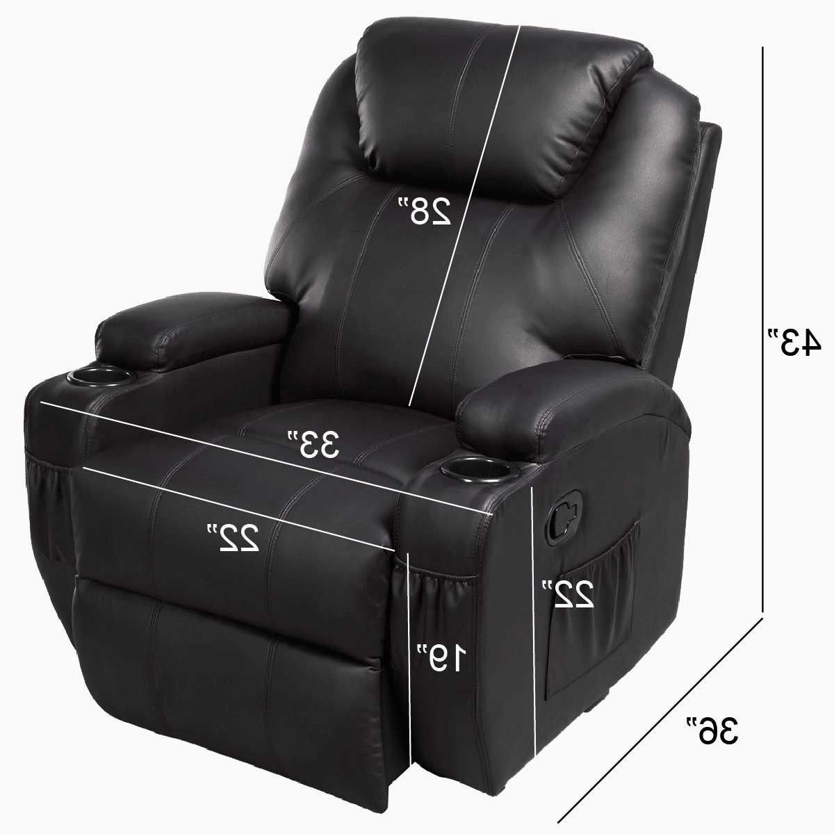 Fashionable Amazon: Ghp Black Sturdy Ergonomic Seating Massage Recliner Regarding Ergonomic Sofas And Chairs (View 9 of 15)
