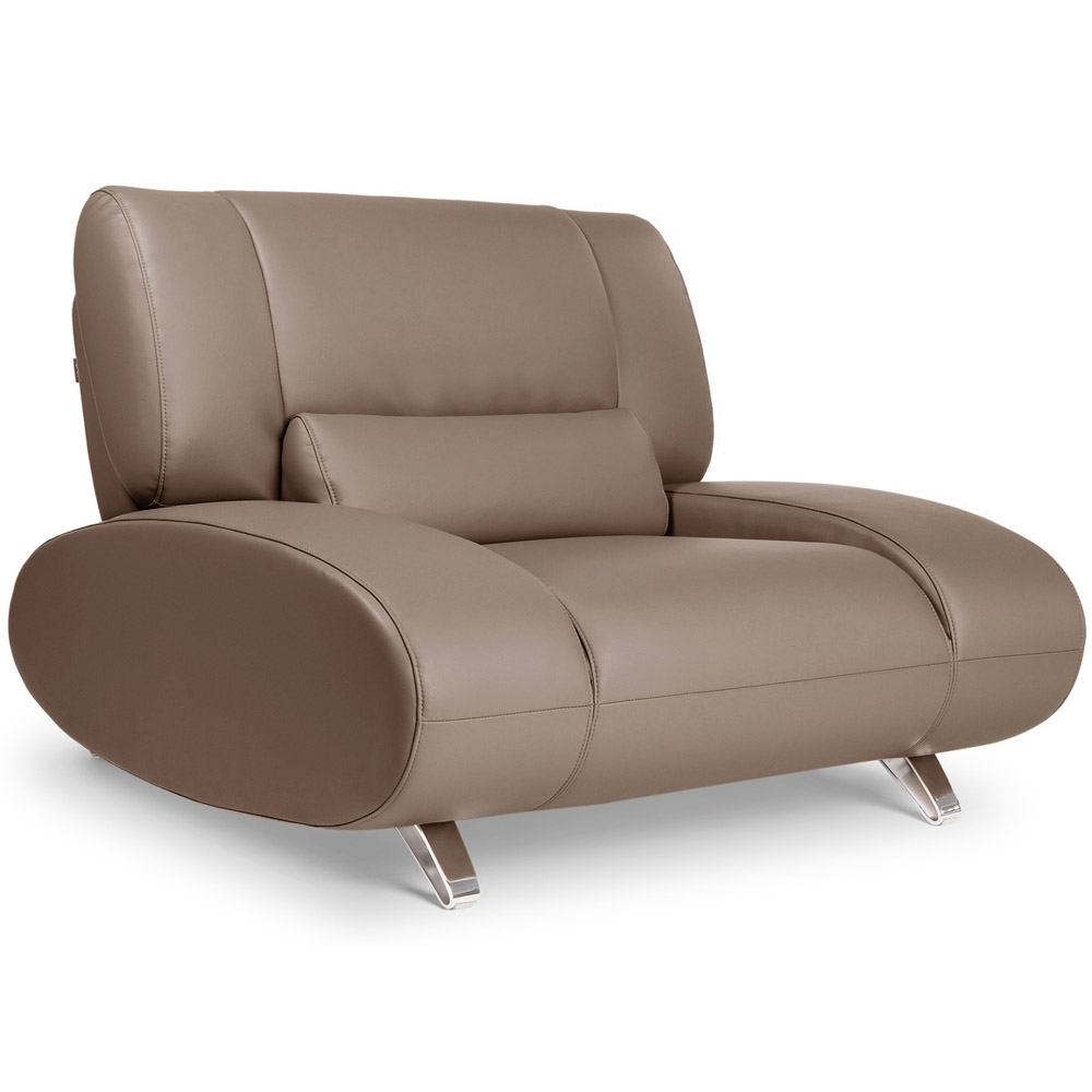 Fashionable Aspen Leather Sofas With Regard To Brown Aspen Leather Sofa Set With Loveseat And Chair (View 8 of 15)