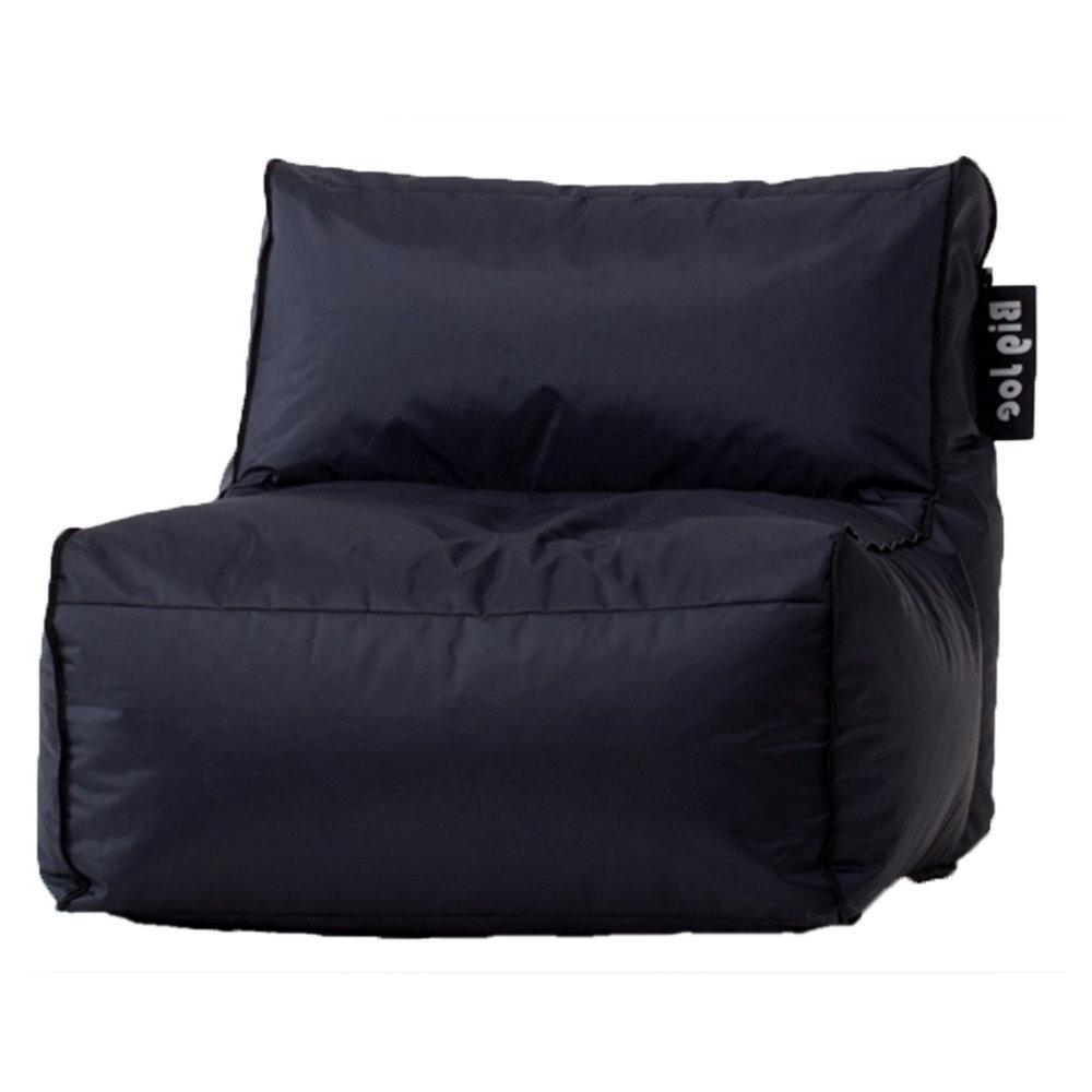 Fashionable Big Sofa Chairs Intended For Amazon: Big Joe Zip Modular Sofa – Stretch Limo Black (View 6 of 15)
