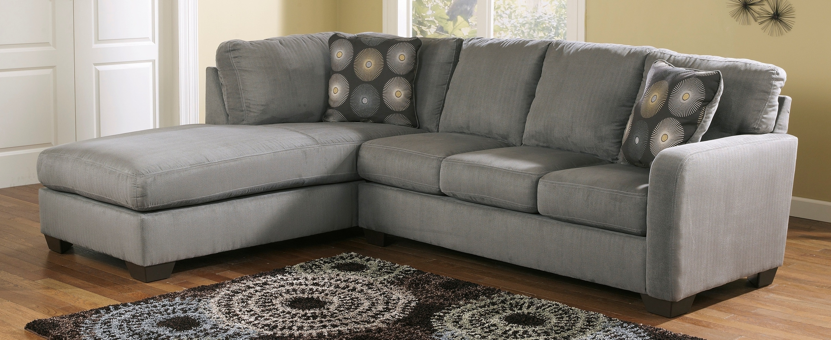 Fashionable Buy Ashley Furniture 7020066 7020017 Zella Charcoal Raf Corner Inside Charcoal Sectionals With Chaise (View 6 of 15)