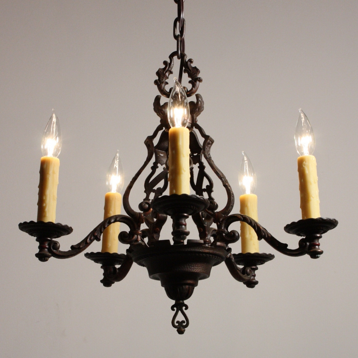 Fashionable Cast Iron Chandelier Intended For Antique Cast Iron Chandelier – Chandelier Designs (View 7 of 15)