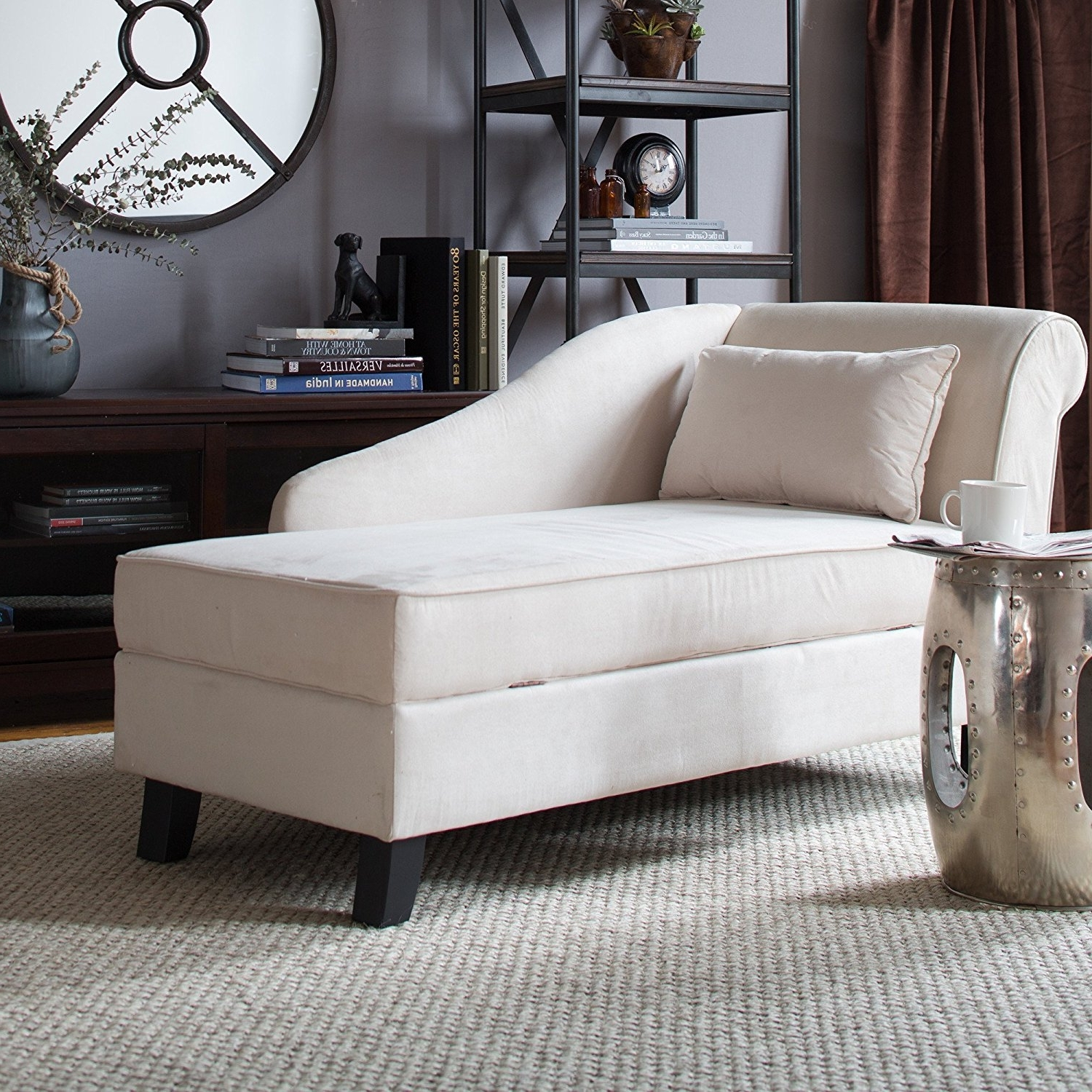 Fashionable Chaise Lounge Chairs For Small Spaces Regarding Home Designs : Living Room Chaise Lounge Chairs Sofa Cool Lounge (View 9 of 15)