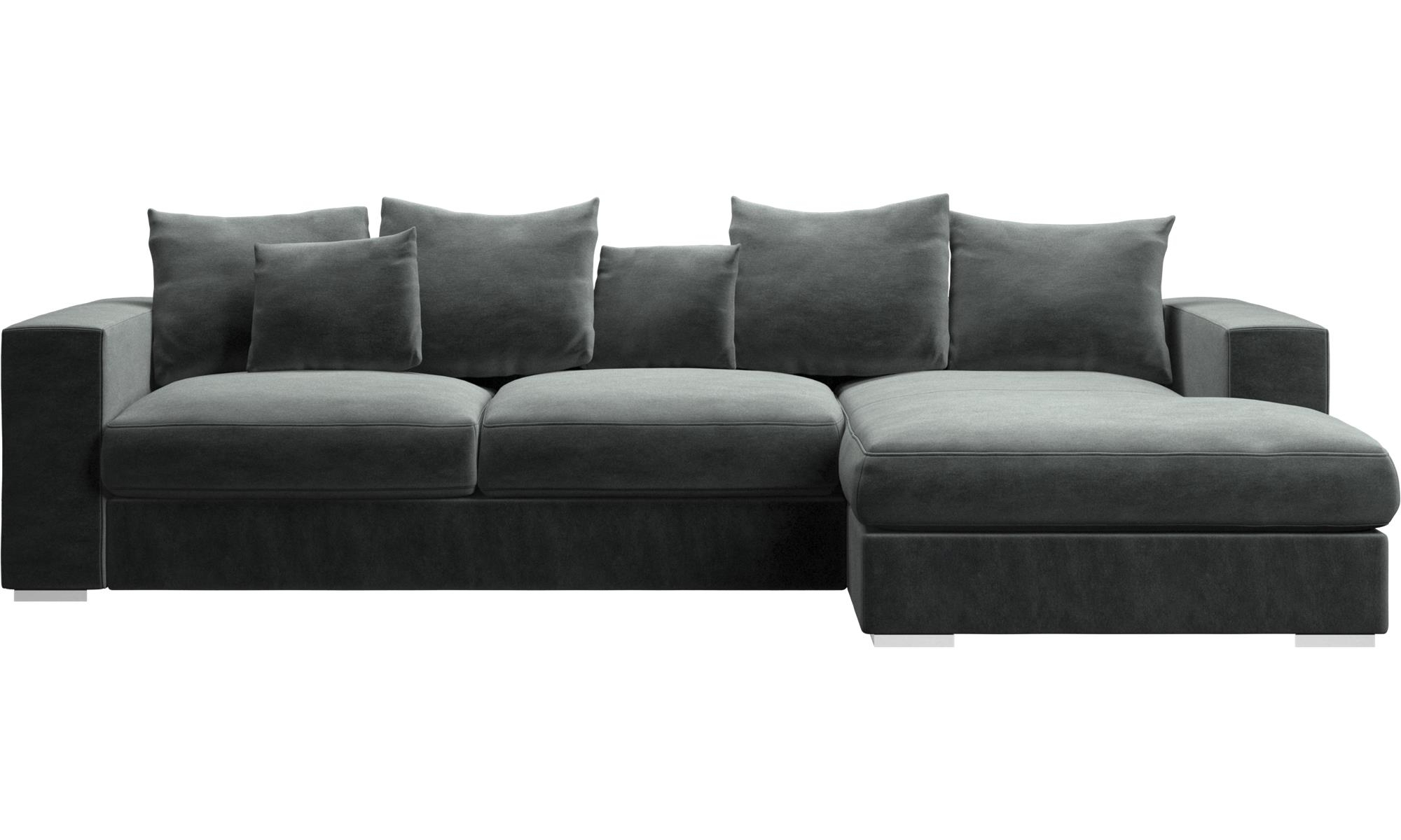 Fashionable Chaise Lounge Sofas – Cenova Sofa With Resting Unit – Boconcept Throughout Chaise Lounge Benchs (View 6 of 15)
