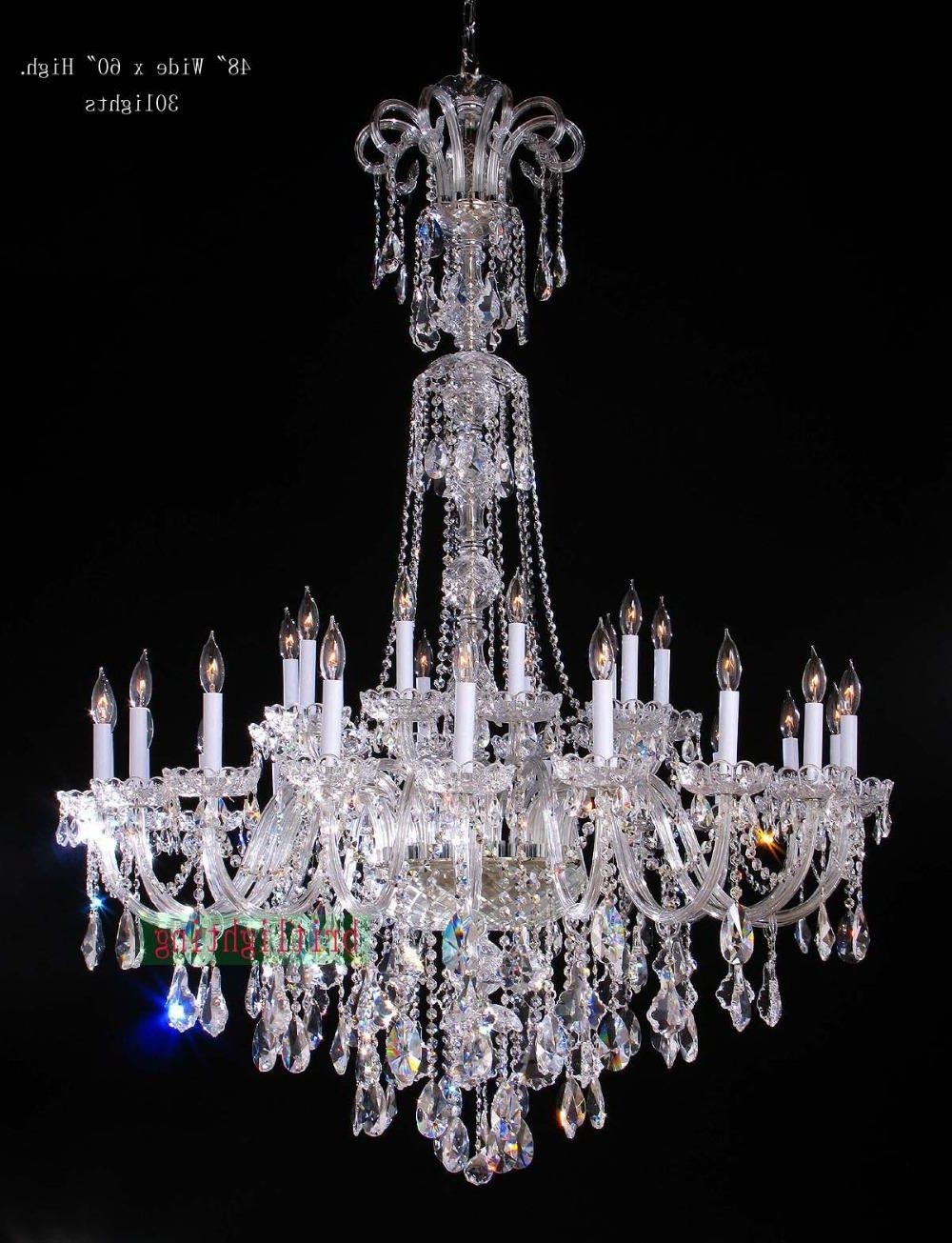 Fashionable Cheap Big Chandeliers With Lamp Modern Crystal Chandeliers 5 Star Hotel Chandelier Led Crystal (View 3 of 15)