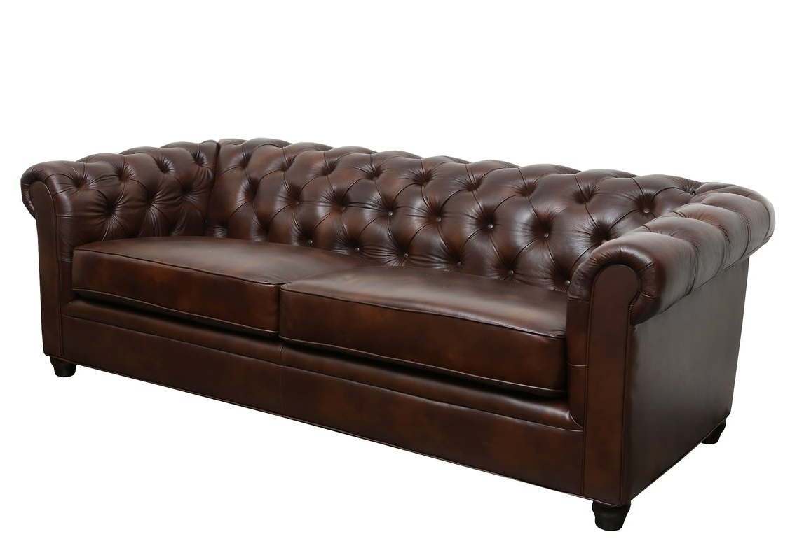 Fashionable Chesterfield Sofas Throughout Trent Austin Design Harlem Leather Chesterfield Sofa & Reviews (View 10 of 15)