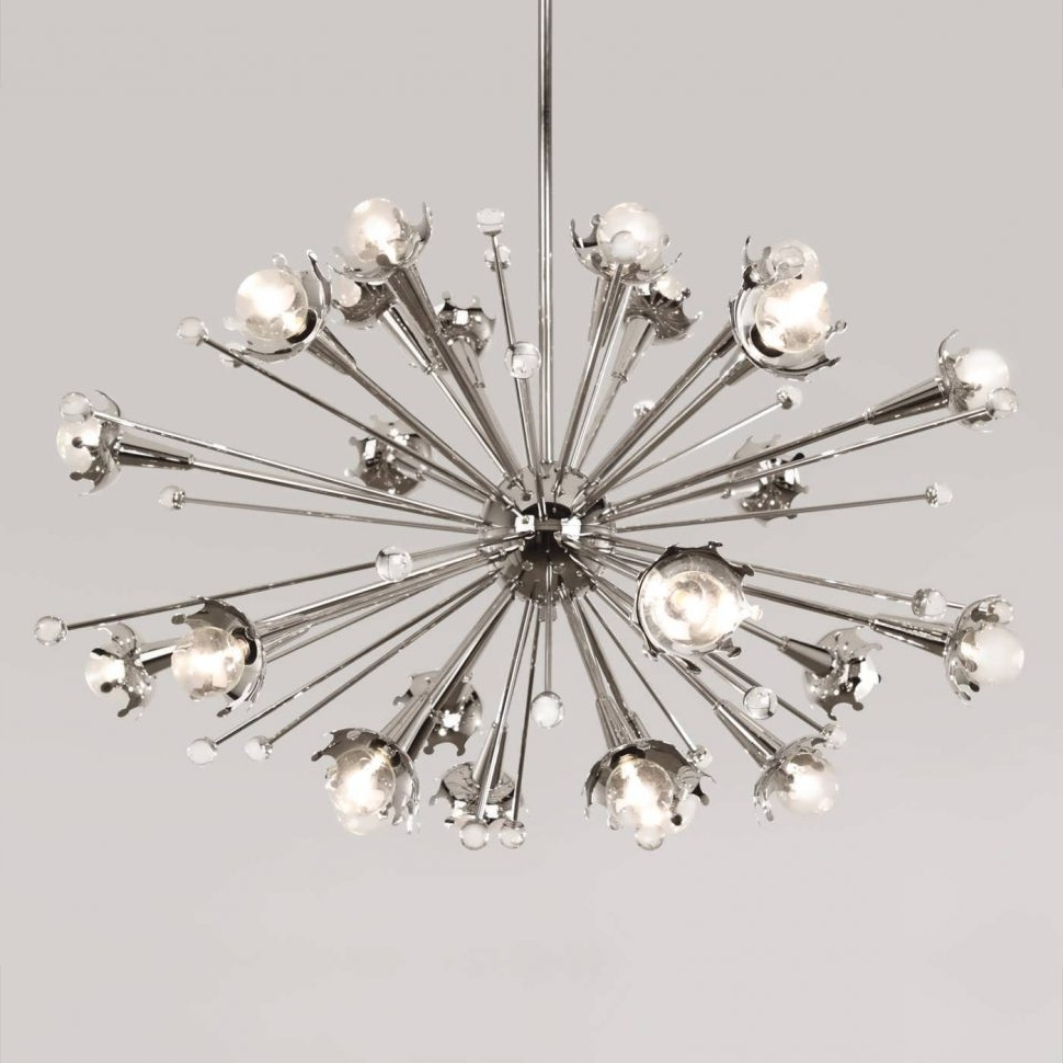 Fashionable Chrome Sputnik Chandeliers Inside Chandelier : Overstock Chandeliers Original Sputnik Chandelier (View 5 of 15)