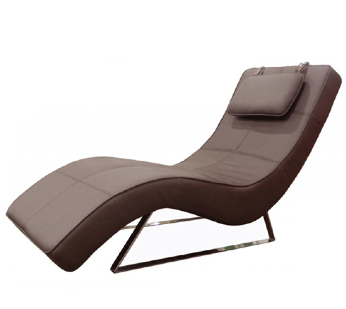 Fashionable Contemporary Chaise Lounges Regarding Contemporary Chaise Lounge – Sleek Contemporary Chaise Lounge (View 1 of 15)