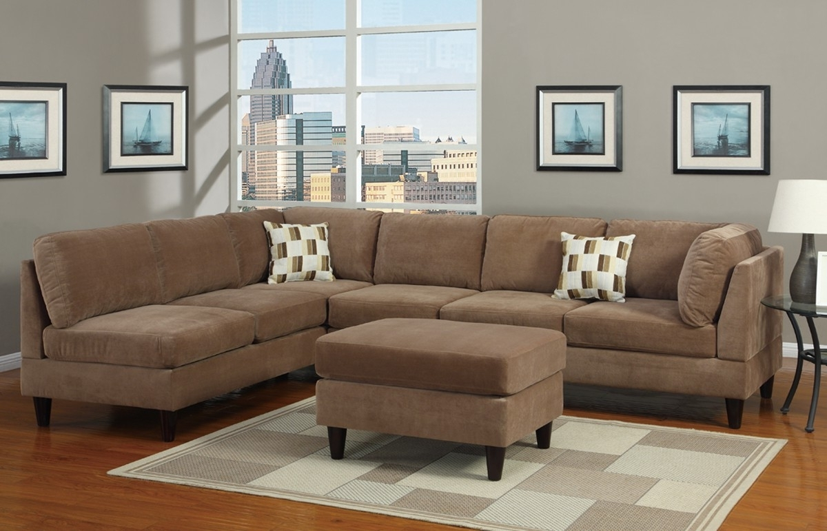 Fashionable Couch Awesome Microfiber Sectional Couches Hi Res Wallpaper Photos Inside Leather And Suede Sectional Sofas (View 12 of 15)