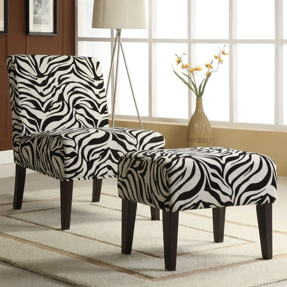 Fashionable Decor Zebra Print Lounge Chair And Ottoman Set Shipping 2017 Regarding Zebra Print Chaise Lounge Chairs (View 4 of 15)