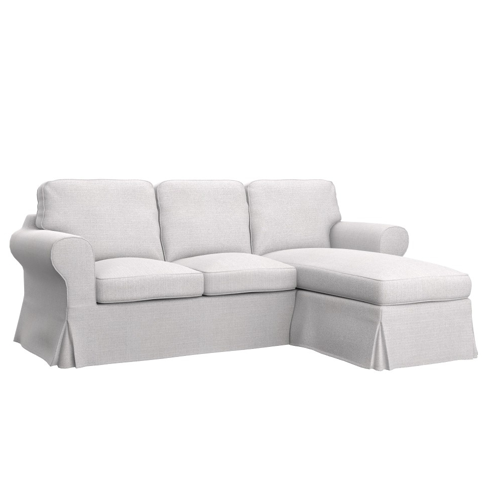Fashionable Ektorp Chaises Pertaining To Ikea Ektorp 2 Seat Sofa With Chaise Longue Cover – Soferia (View 10 of 15)