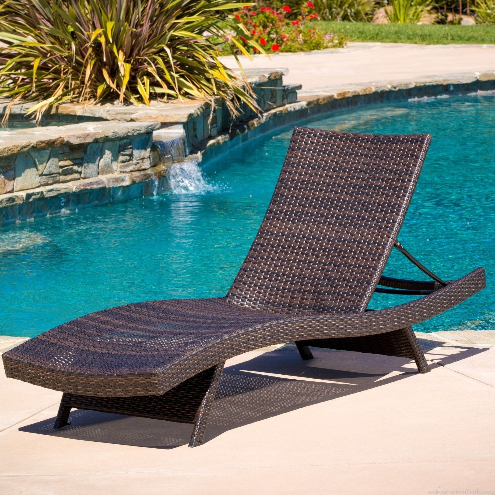 Featured Photo of Lakeport Outdoor Adjustable Chaise Lounge Chairs