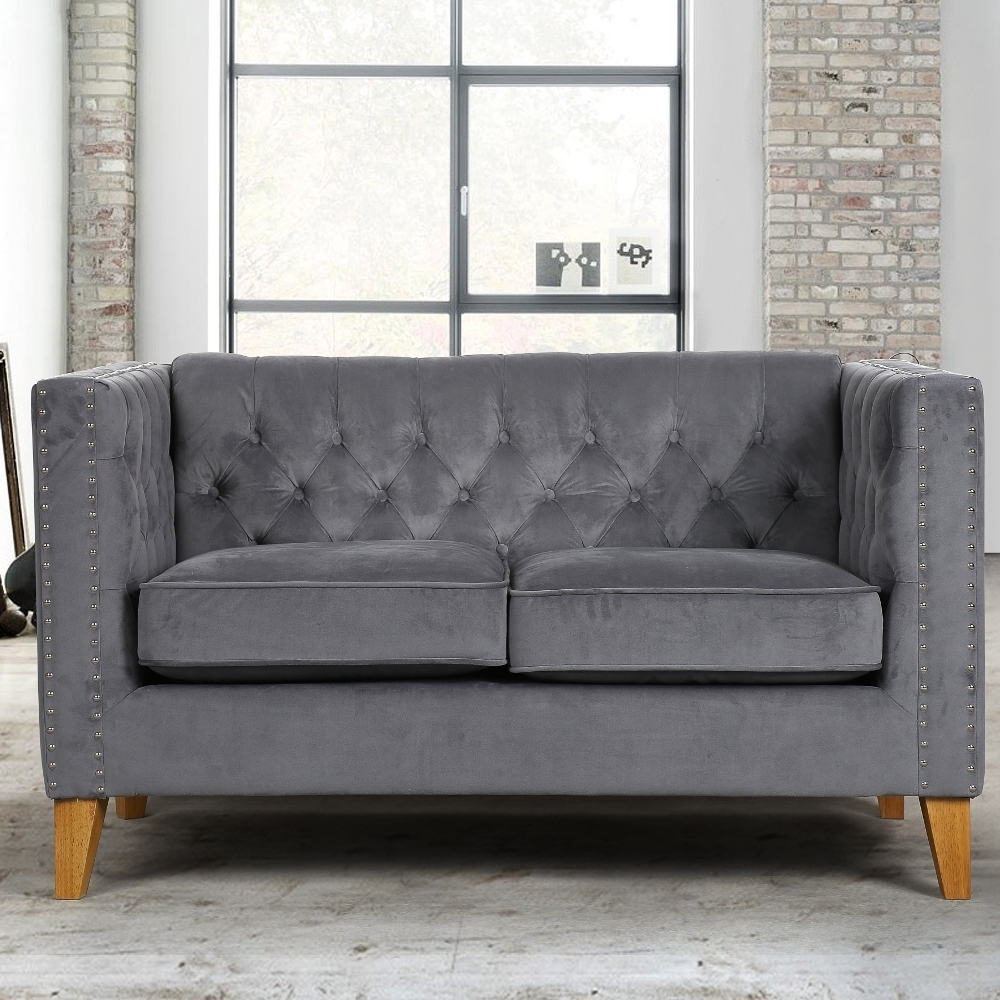 Fashionable Florence Grey Medium Sofa Intended For Florence Medium Sofas (View 9 of 15)