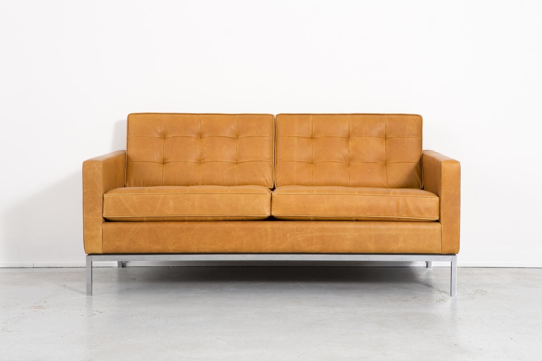 Fashionable Florence Knoll Leather Sofas In Leather Sofaflorence Knoll Bassett For Knoll, 1970S For Sale (View 9 of 15)