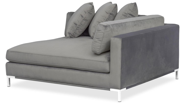 Fashionable Gray Chaises For Moda Corner Sofa – Gray (View 2 of 15)
