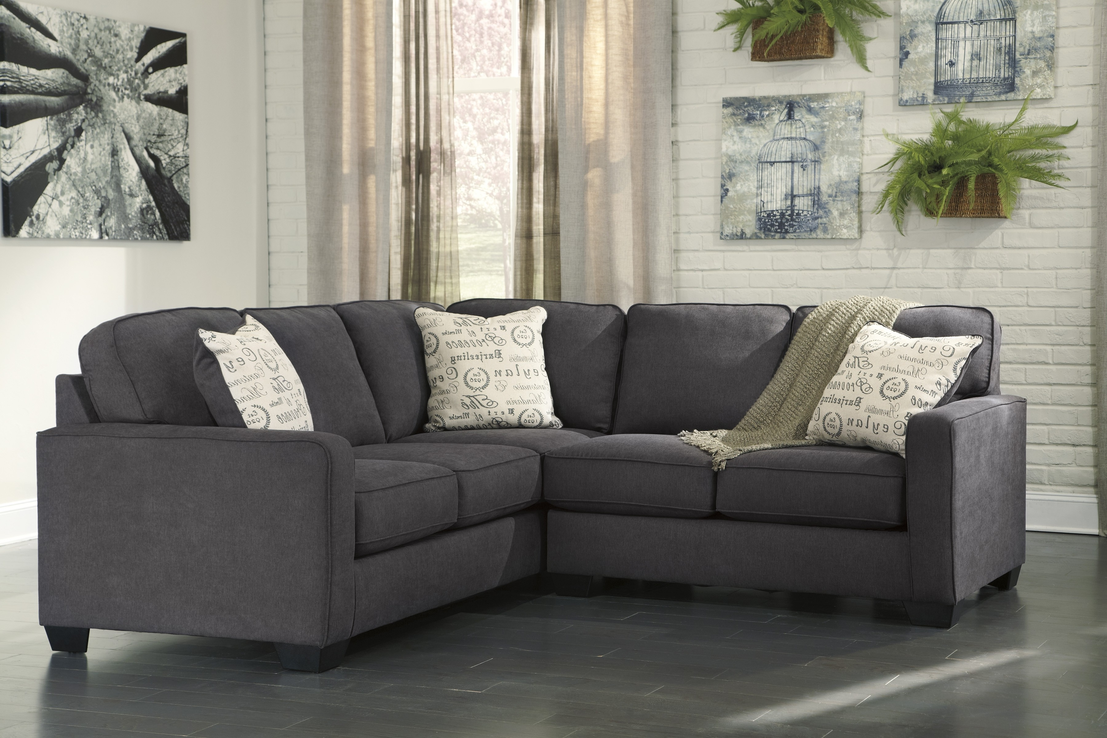 Fashionable Gray Leather Sofa Ashley Furniture Cheap Sectional Sofas Grey Inside 2 Seat Sectional Sofas (View 11 of 15)