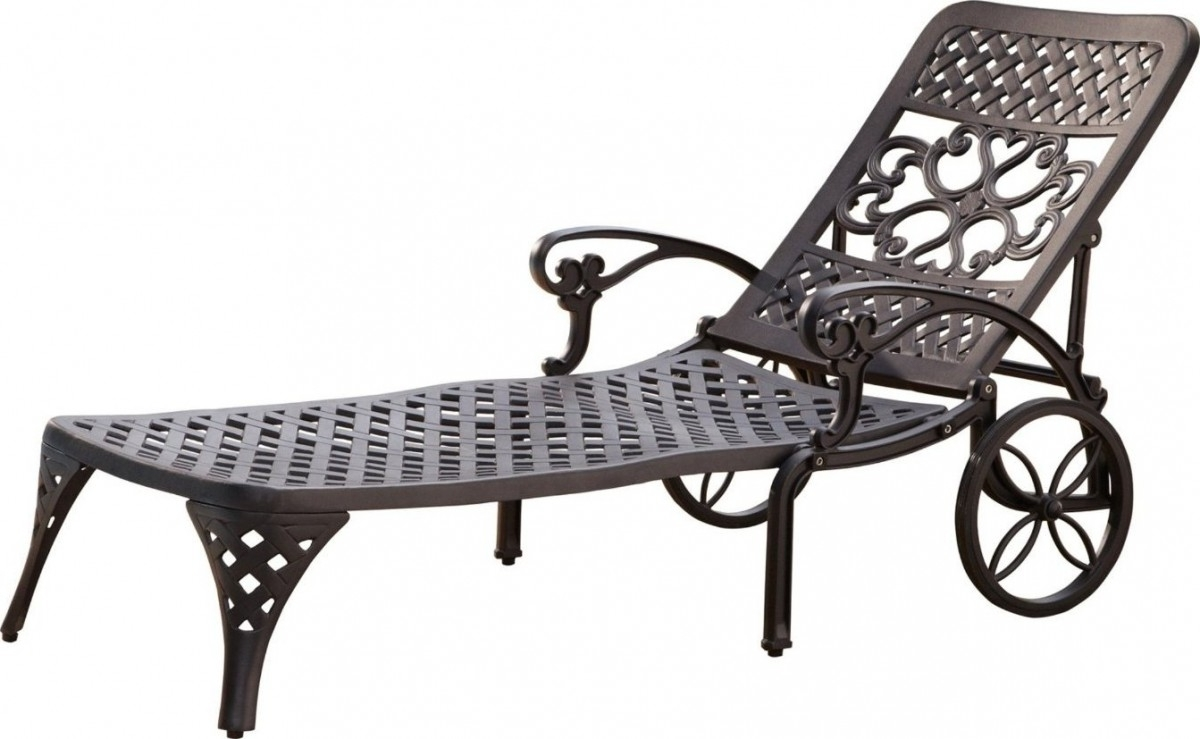 Fashionable Home Styles Biscayne Outdoor Chaise Lounge Chair With Wheels Inside Outdoor Metal Chaise Lounge Chairs (View 13 of 15)