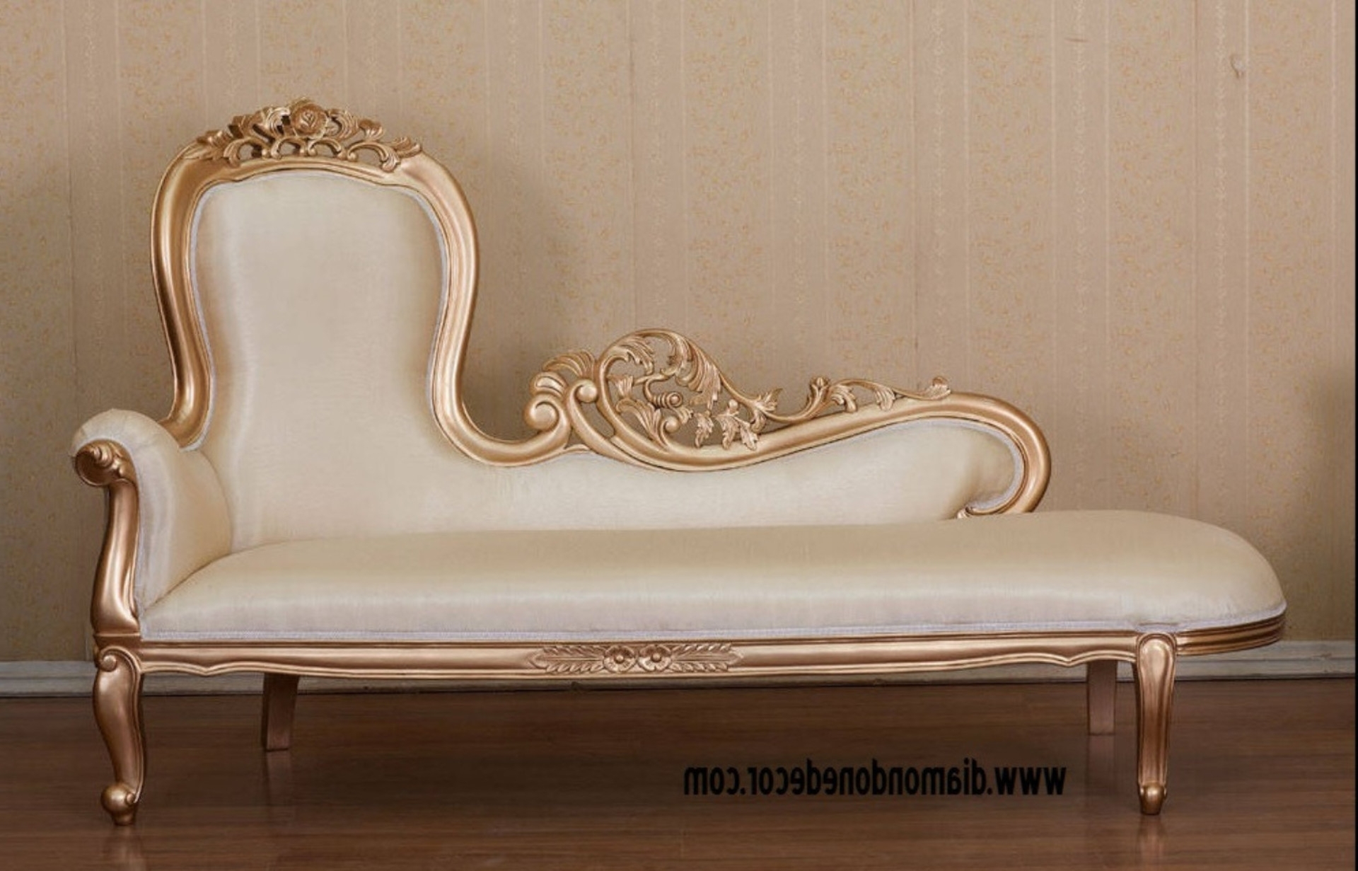 Fashionable Hot Pink Baroque French Reproduction Louis Xvi Style,rococo Throughout French Country Chaise Lounges (View 15 of 15)
