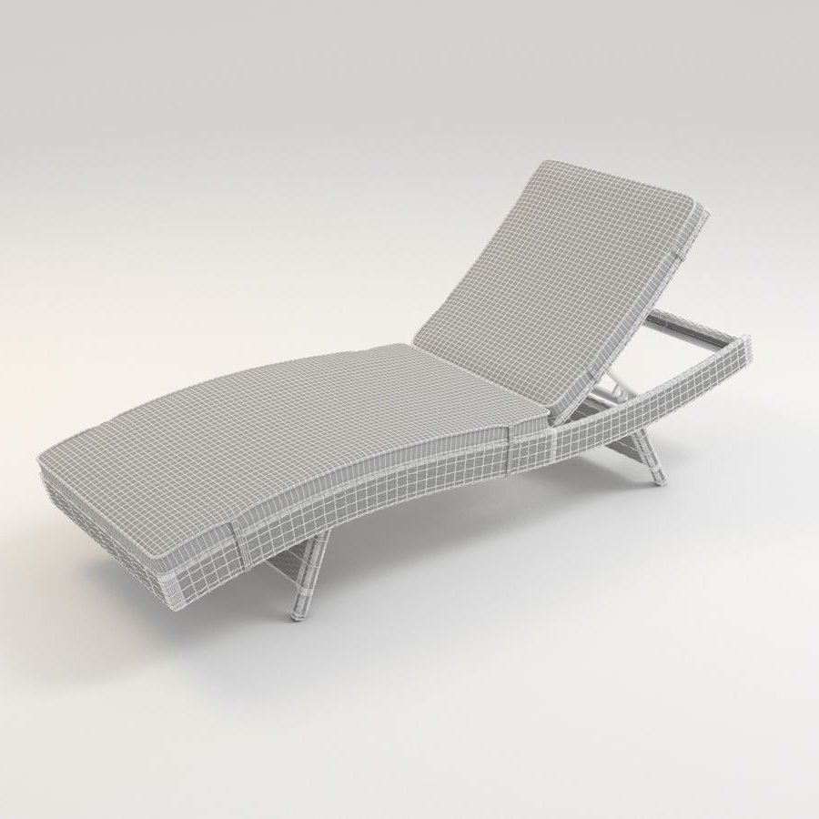 Fashionable Lakeport Outdoor Adjustable Chaise Lounge Chair With Cushion 3D Within Lakeport Outdoor Adjustable Chaise Lounge Chairs (View 3 of 15)