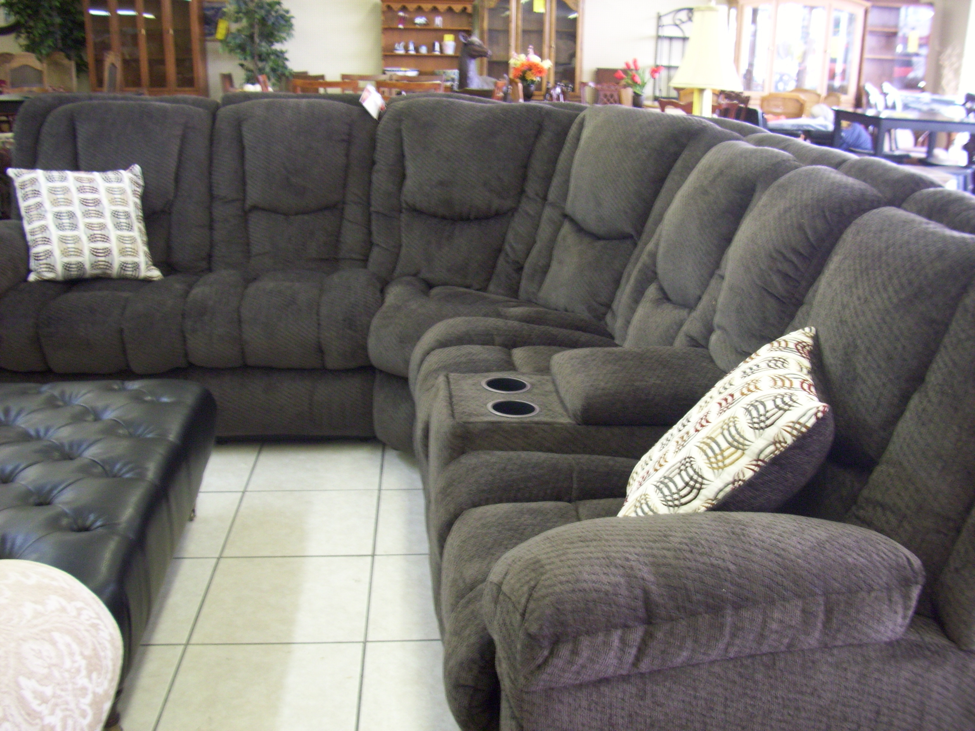 Fashionable Large Sectional Sofas U Shaped Sectional Sectionals Sofas Fabric Intended For Reclining U Shaped Sectionals (View 4 of 15)