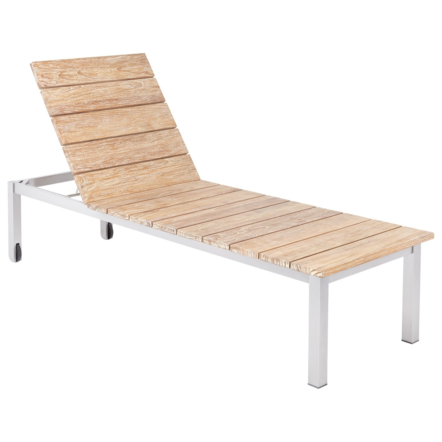 Fashionable Macon 3 Piece Teak Outdoor Chaise Lounge Chair Set – Whitewash For White Outdoor Chaise Lounges (View 3 of 15)