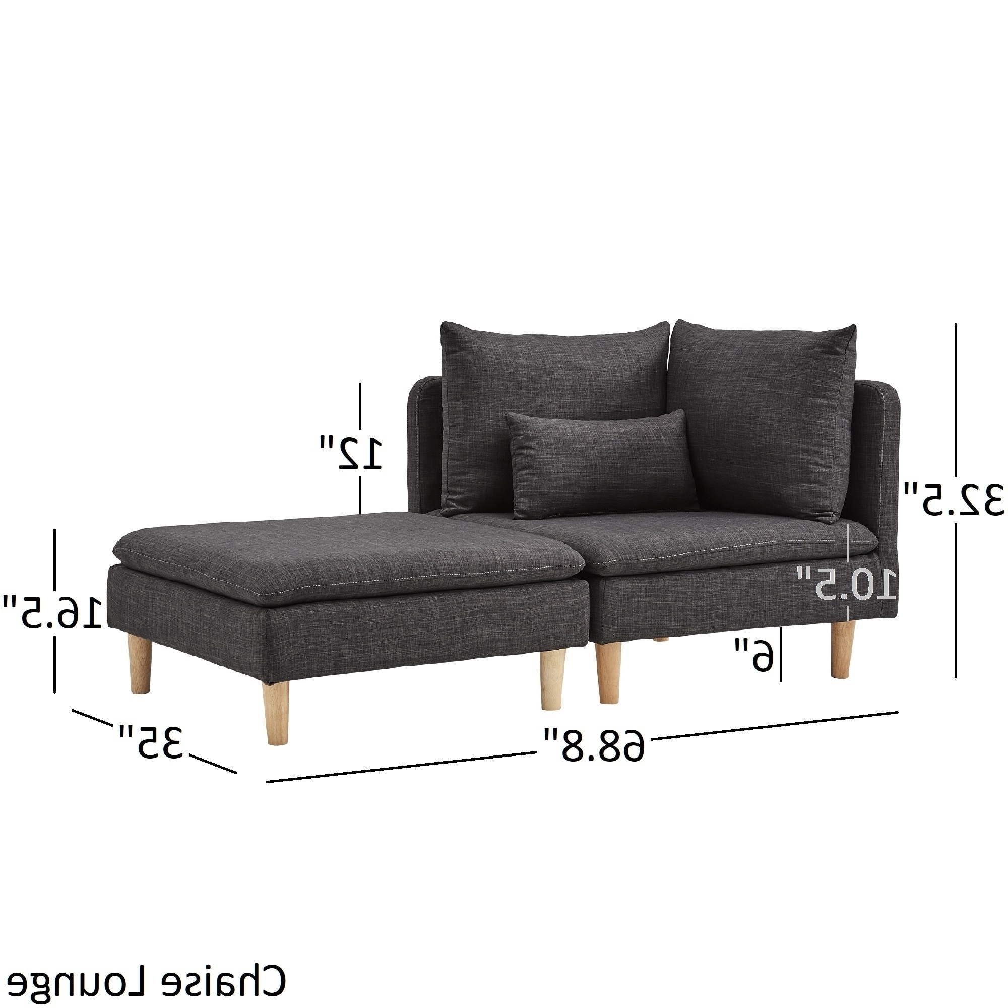 Fashionable Malina Modular Mid Century Chair And Ottomaninspire Q Modern Inside Mid Century Chaise Lounges (View 3 of 15)