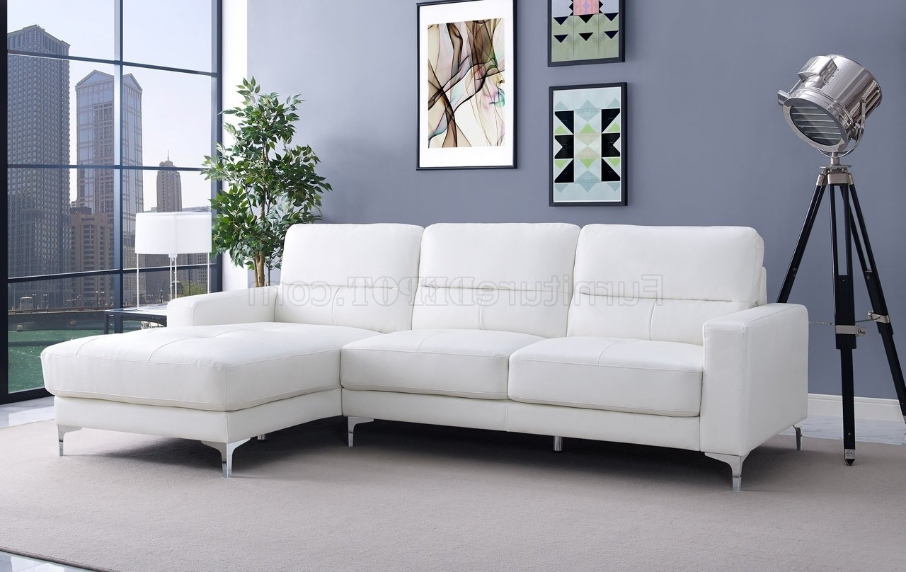 Fashionable Memphis Sectional Sofas Within Memphis Sectional Sofa In White Bonded Leatherwhiteline (View 6 of 15)