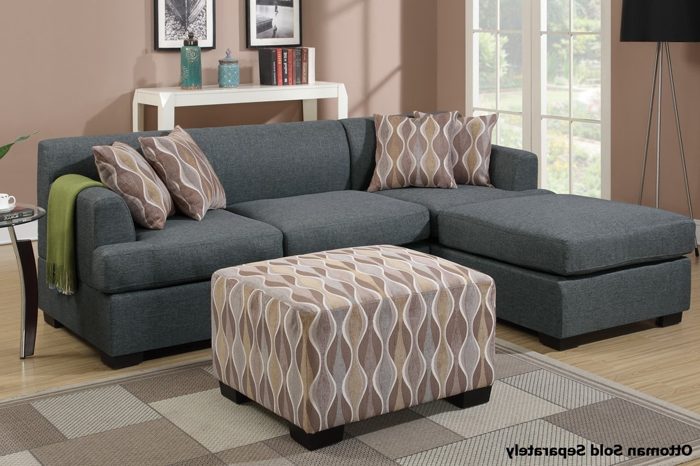 Fashionable Montreal Sectional Sofas Pertaining To Montreal Ii Grey Fabric Sectional Sofa – Steal A Sofa Furniture (View 4 of 15)