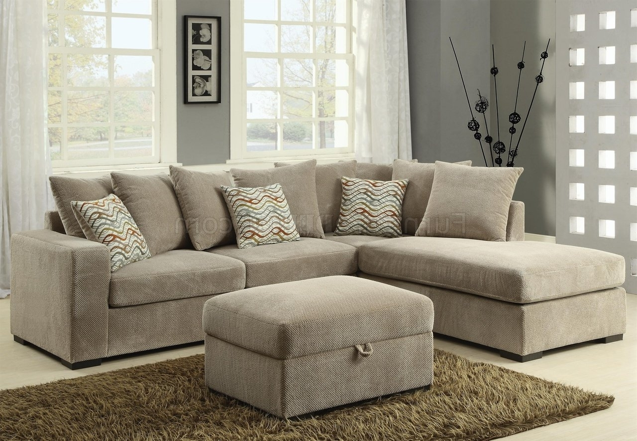 Fashionable Olson Sectional Sofa 500044 In Taupe Fabriccoaster Within Philadelphia Sectional Sofas (View 2 of 15)