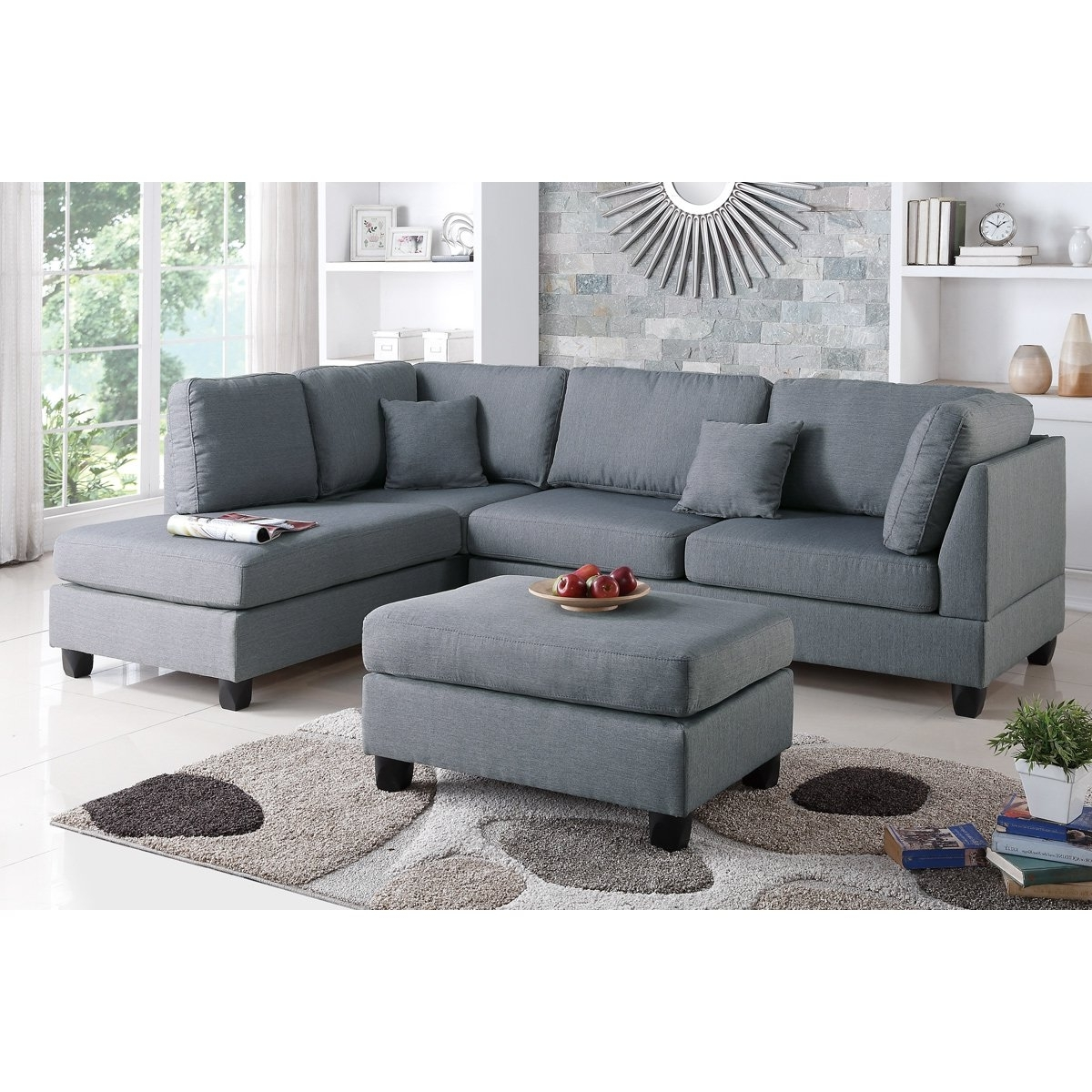 Fashionable Pottery Barn Chaises Within Furniture: Pottery Barn Buchanan Sectional (View 4 of 15)
