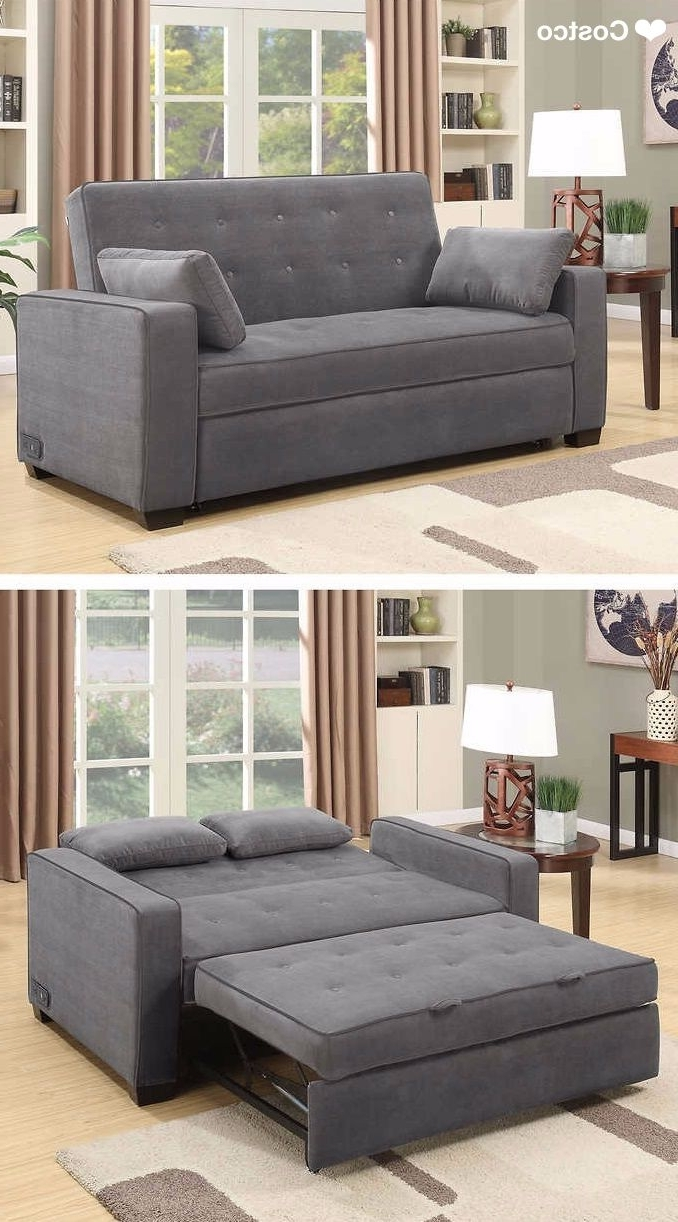 Fashionable Queen Size Sofas With Regard To The Westport Fabric Sleeper Sofa In Charcoal Gray Is Sure To Be A (View 3 of 15)