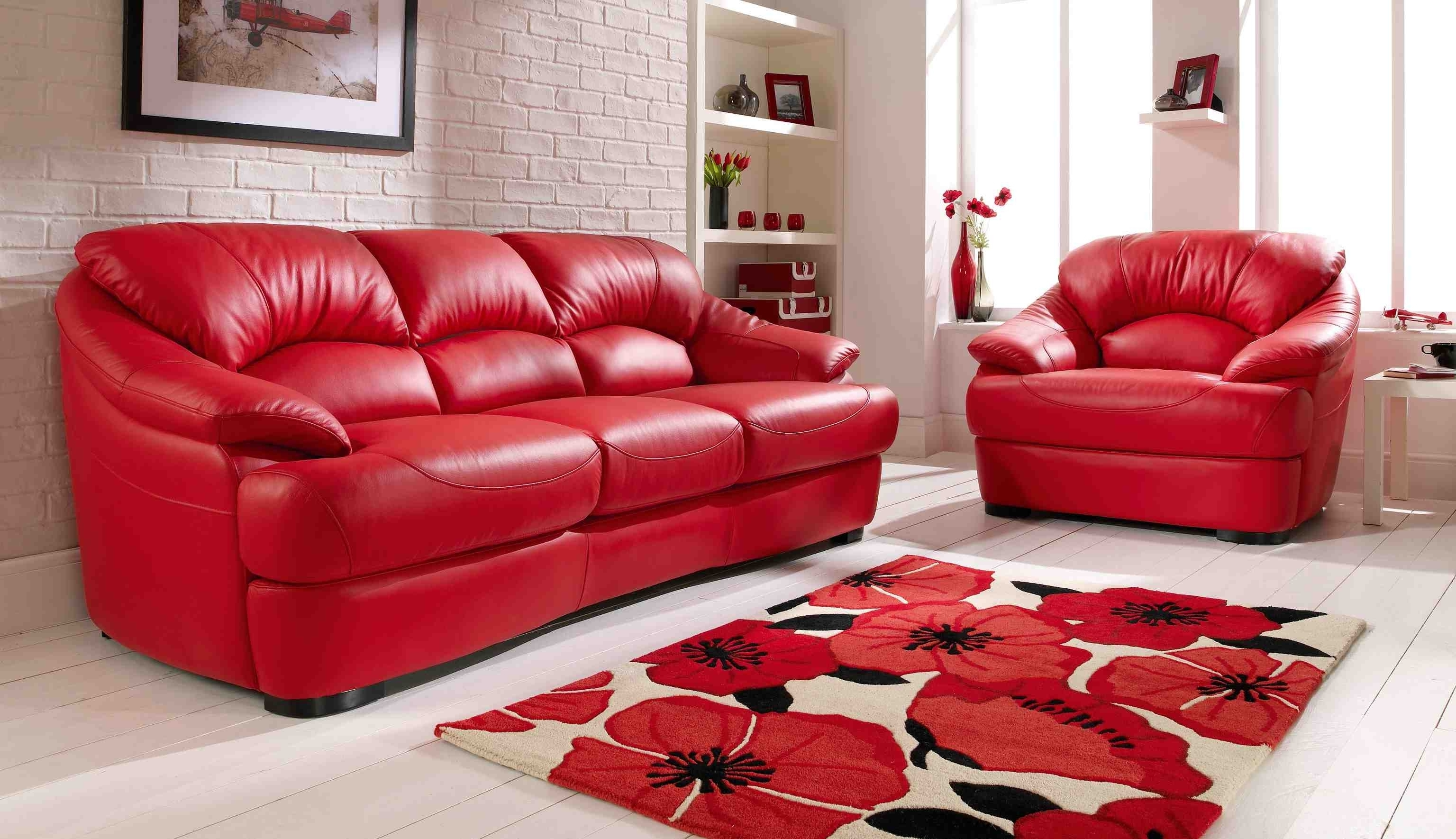 Fashionable Red Leather Sofa Living Room Ideas Home Design Ideas Pertaining To Inside Red Leather Couches For Living Room (View 3 of 15)